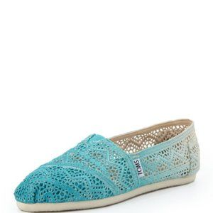 TOMS Ombre Crochet Slip-On, Turquoise Size 7.5